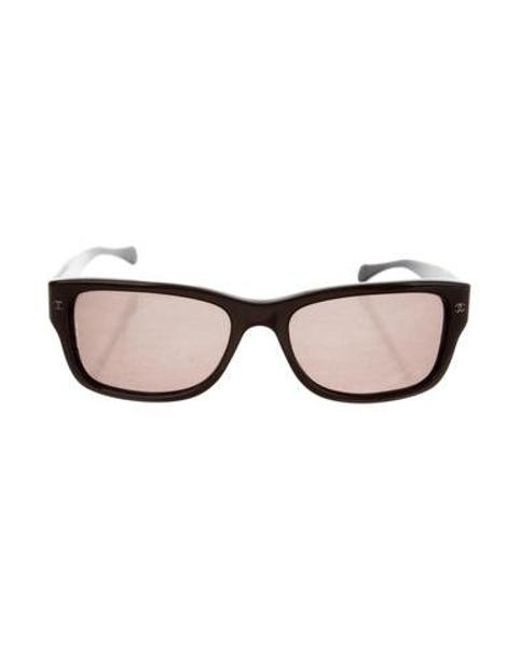 14444c75297 Chanel - Metallic Textured Cc Sunglasses Brown - Lyst ...