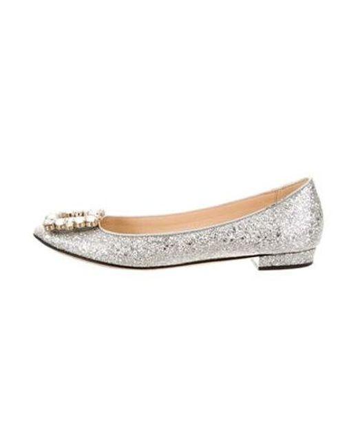 dead83ead134 Kate Spade - Metallic Round-toe Flats Silver - Lyst ...