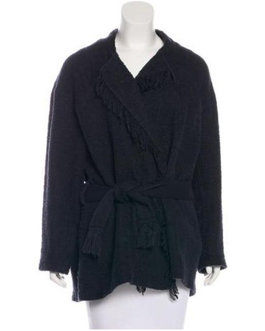 IRO - Black Belted Knit Coat - Lyst