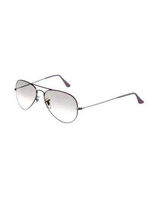 e12369dd4a ... coupon code for ray ban purple aviator flash sunglasses lyst 7a7ad 4be43