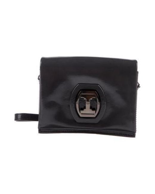 5bbe50d33f Halston Heritage - Metallic Mini Patent Leather Crossbody Bag Silver - Lyst  ...