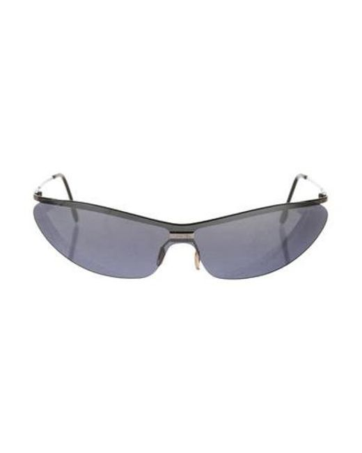 419552718a3 Chanel - Metallic Rimless Narrow Sunglasses Silver - Lyst ...