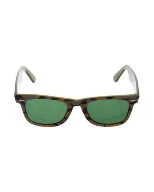 7436f1c05e Ray-Ban - Gray Camo Wayfarer Sunglasses Green - Lyst ...