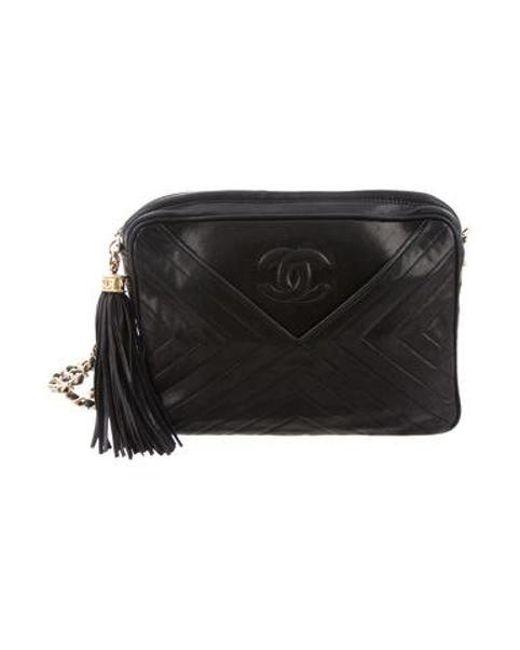 545e224a128 Chanel - Metallic Vintage Chevron Camera Bag Navy - Lyst ...