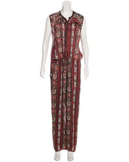 e2359e023f Étoile Isabel Marant - Red Printed High-rise Jumpsuit - Lyst ...