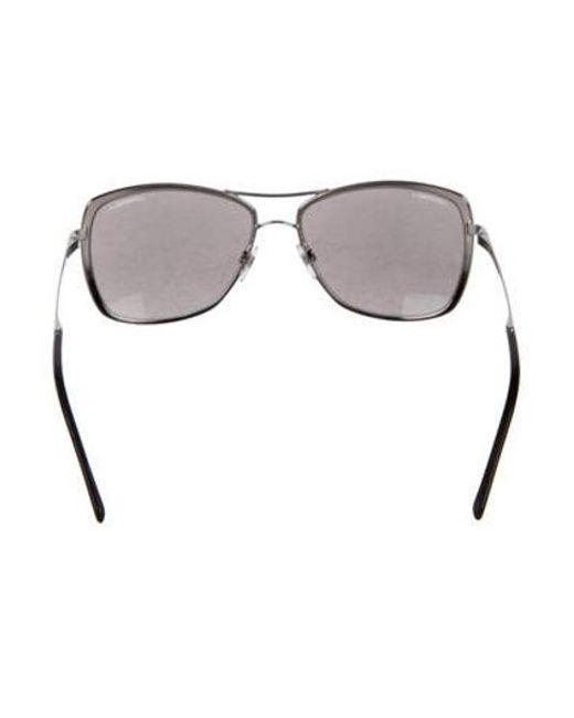 85aedf1a1856 ... Chanel - Metallic 2017 Summer Pilot Sunglasses Silver - Lyst