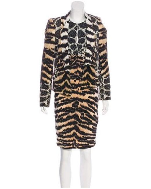 Roberto Cavalli - Black Animal Print Silk Dress Set - Lyst ... bd99e0f54