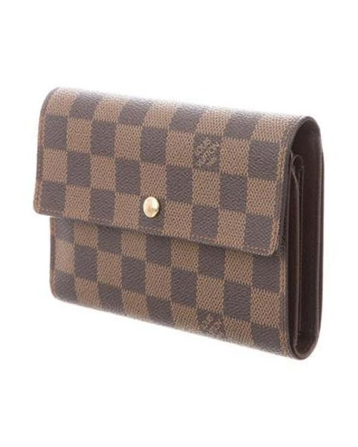 ceaa140ec4859 ... Louis Vuitton - Natural Damier Porte-tresor Etui Chequier Brown - Lyst  ...