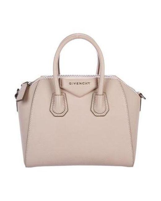 Givenchy - Metallic Mini Antigona Satchel Pink - Lyst ... 477357f79e