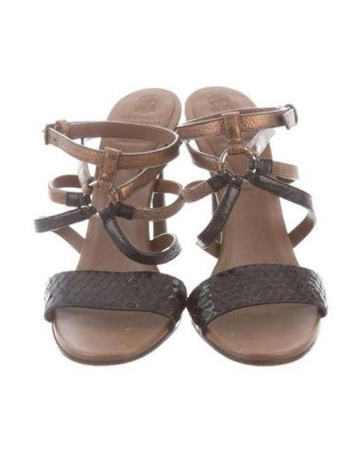 7eda799175 ... Brunello Cucinelli - Brown Monili Embellished Sandals - Lyst ...