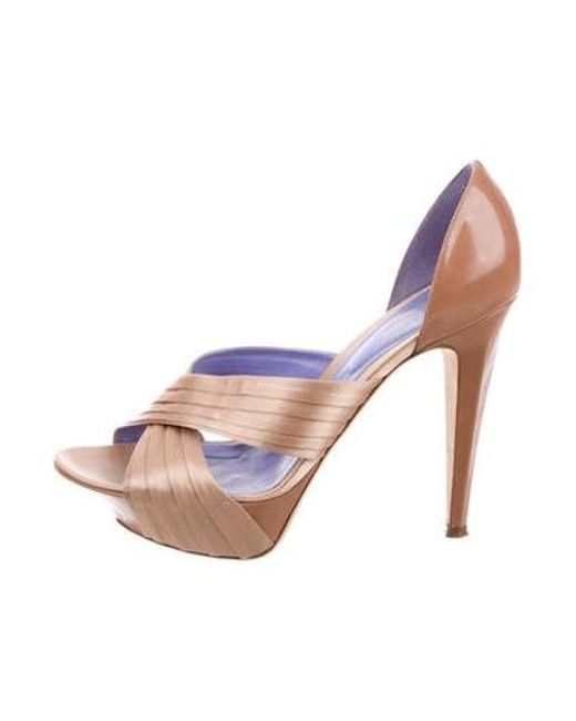4a830894c1b Sergio Rossi - Multicolor Crossover Platform Sandals - Lyst ...