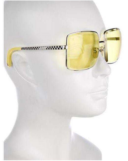 630bf988ce015 ... Louis Vuitton - Metallic Jane Square Sunglasses Silver - Lyst
