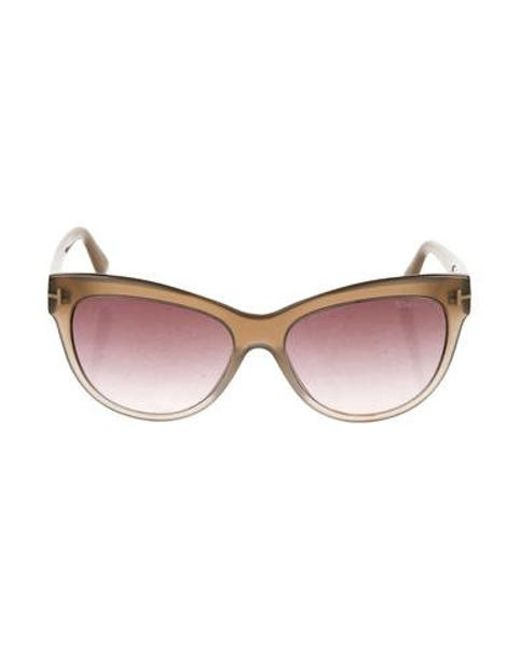 27cee8542d52b Tom Ford - Metallic Lily Cat-eye Sunglasses Tan - Lyst ...