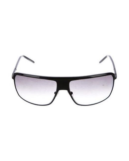 0db994bdc9 Dior Homme - Natural Gradient Rectangular Sunglasses Black - Lyst ...