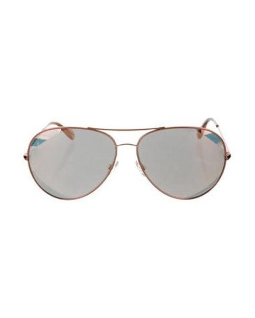 b5d40263d32 Oliver Peoples - Metallic Sayer Aviator Sunglasses Gold for Men - Lyst ...