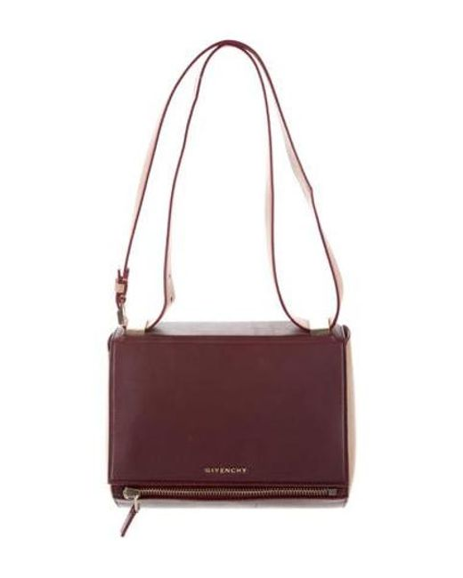 Givenchy - Metallic Mini Pandora Box Bag Red - Lyst ... 334432b6adcab
