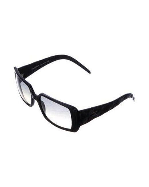9a878917abf ... Chanel - Black Quilted Cc Sunglasses - Lyst ...