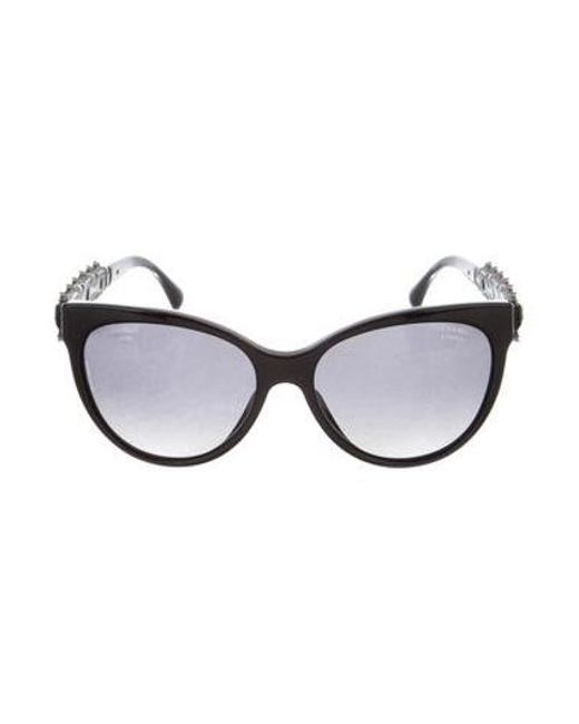 8c07ffb2cadd Chanel Cat Eye Sunglasses With Pearls - Image Of Glasses