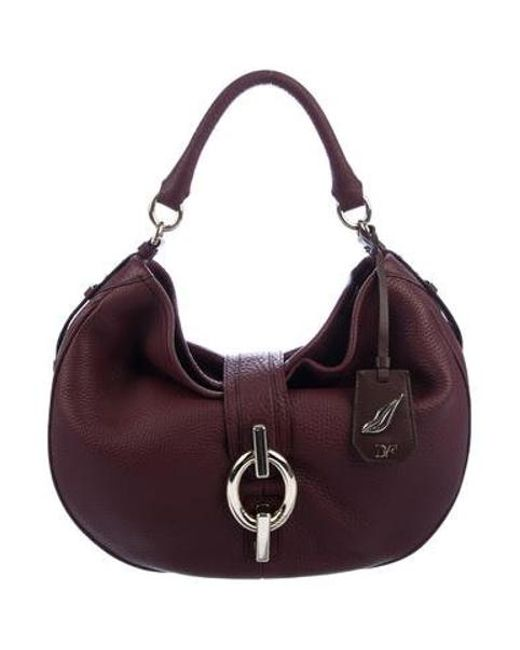 8f07fa62048b Diane von Furstenberg - Metallic Leather Sutra Hobo Gold - Lyst ...