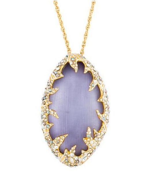 a1238836a0 Alexis Bittar - Metallic Large Lucite Pendant Necklace Gold - Lyst ...
