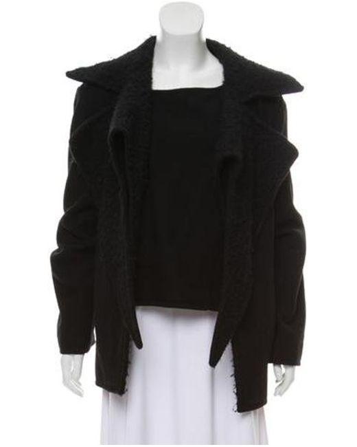 Haider Ackermann - Black Layered Wool Coat - Lyst