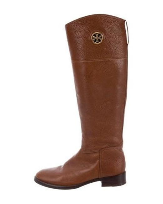 e8a73215d0896 Tory Burch - Brown Leather Knee-high Boots - Lyst ...