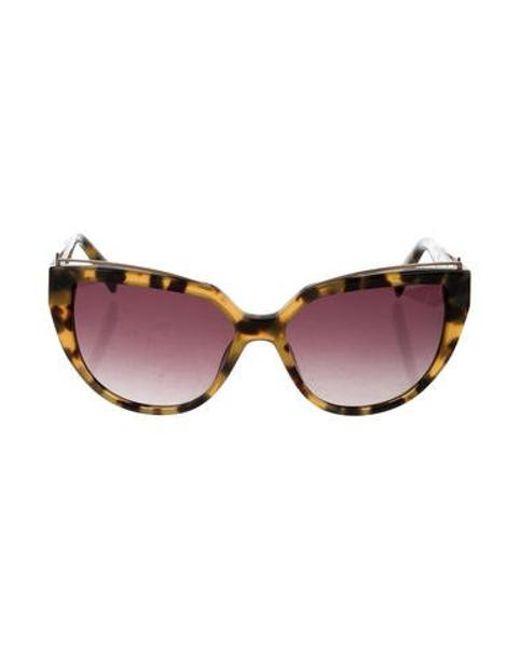 cc8ff0261fbb Balmain - Metallic Tortoiseshell Cat-eye Sunglasses Brown - Lyst ...