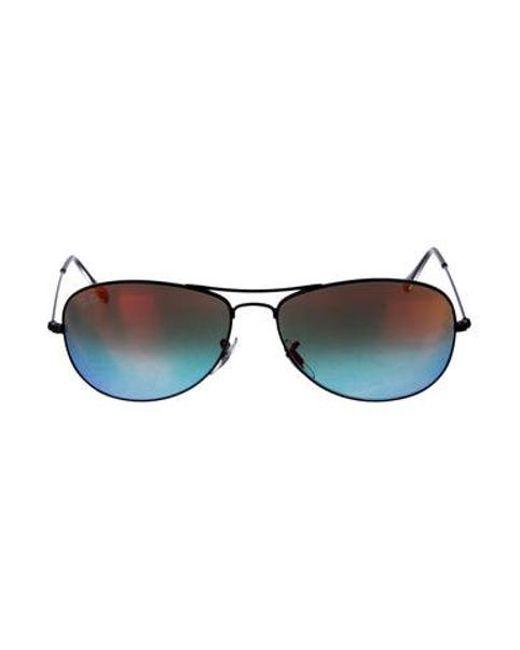 ece2158c9e Ray-Ban - Black Cockpit Mirror-metallic Sunglasses - Lyst ...