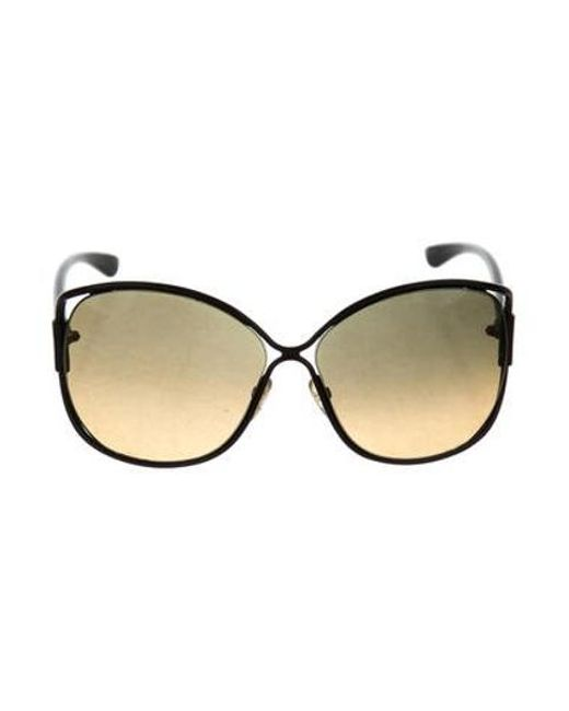 ef86b898d68c Tom Ford - Black Emmeline Oversize Sunglasses - Lyst ...