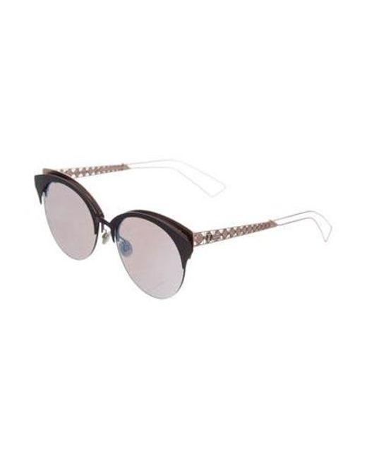 1252553ff2 Lyst Dior 2017 Diorama Club Sunglasses Blue In Metallic