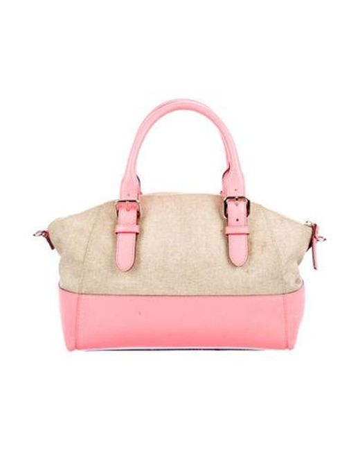 ... Kate Spade - Metallic Charlotte Street Fabric Small Sloan Satchel  Natural - Lyst 719ff5e21a51a
