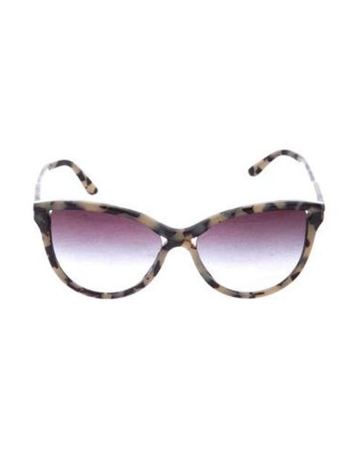 3075b72d32 Stella McCartney - Natural Square Tinted Sunglasses Black - Lyst ...