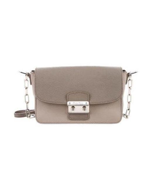 47bceb9799 Miu Miu - Metallic Miu Bicolor Leather Crossbody Bag Beige - Lyst ...