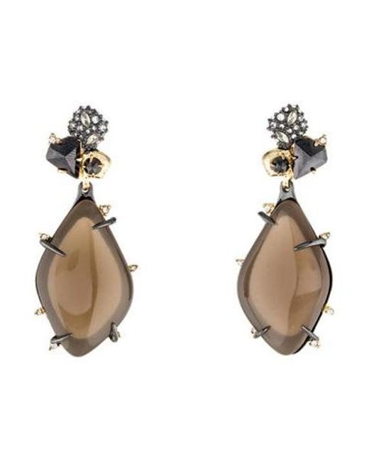 Alexis Bittar - Metallic Lucite & Crystal Drop Earrings Gold - Lyst