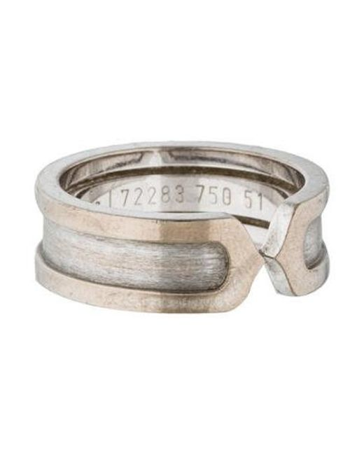 Cartier - Metallic Logo Double C Ring White - Lyst