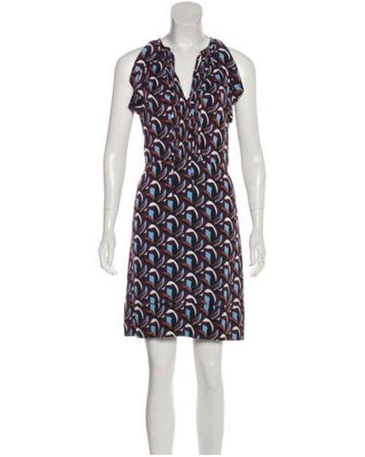 da04d50dfe707 Diane von Furstenberg - Brown Berit Silk-blend Dress - Lyst ...