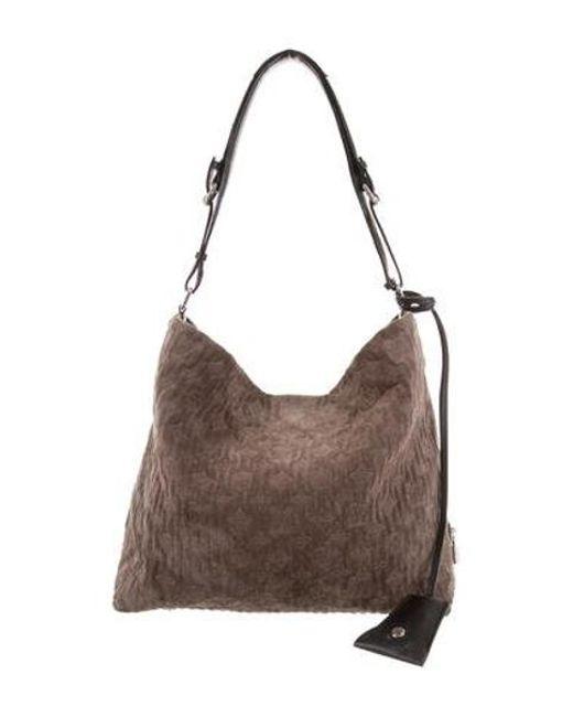 Louis Vuitton - Metallic Suede Antheia Pm Brown - Lyst ... 41325e6967de9