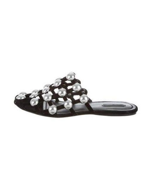 043ac54ad45 Alexander Wang - Metallic Amelia Caged Sandals Black - Lyst ...