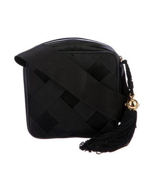 Chanel - Metallic Vintage Satin Bow Evening Bag Black - Lyst
