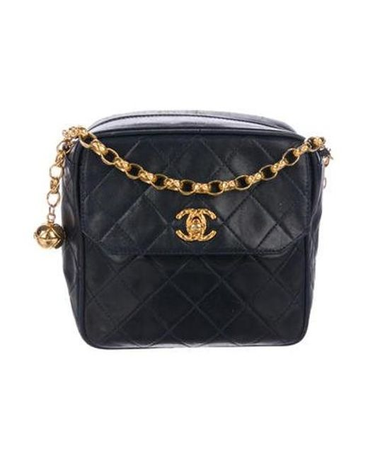 Chanel - Metallic Vintage Quilted Mini Flap Bag Navy - Lyst ... fd0578af617ba