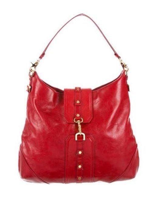 80753f3e70e Tory Burch - Metallic Leather Shoulder Bag Red - Lyst ...