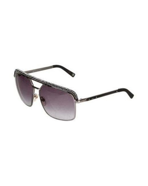 cb0e0ad87afa ... Dior - Metallic Embellished Aviator Sunglasses Silver - Lyst ...
