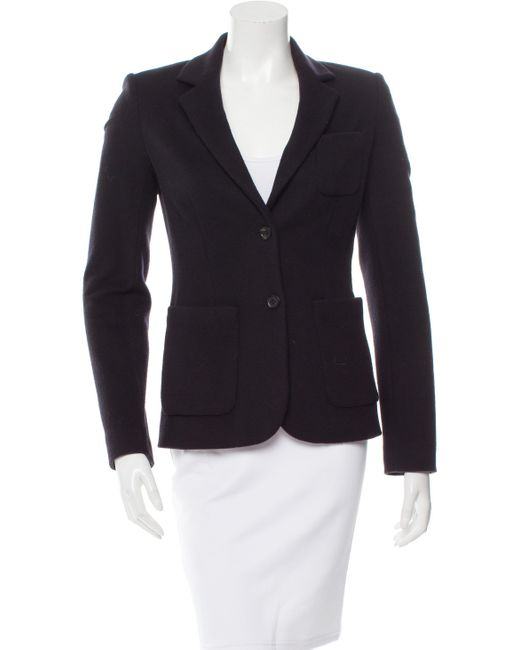 The Row | Blue Wool-blend Two-button Blazer | Lyst