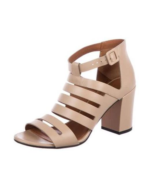 8813fd78893 ... Givenchy - Natural Leather Cage Sandals Beige - Lyst ...