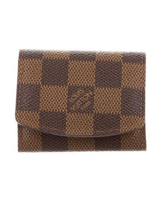 d8c667d52cb3 Louis Vuitton - Natural Damier Ebene Jewelry Holder Brown - Lyst ...