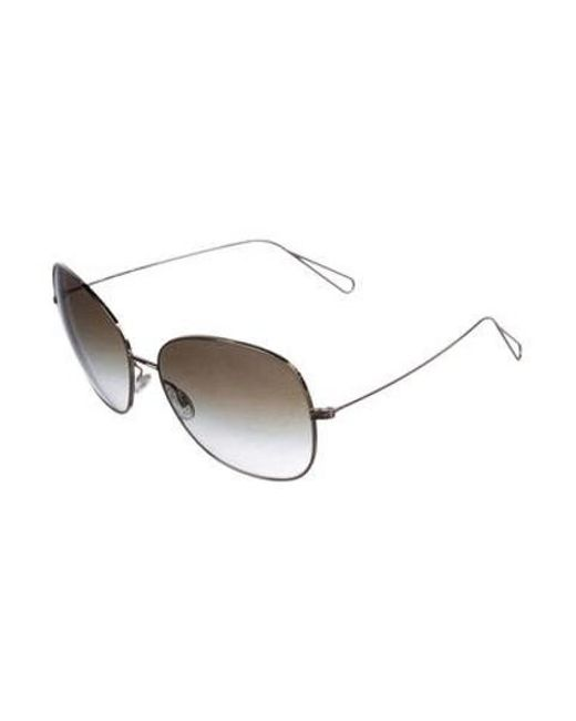 adb724594da6 ... Oliver Peoples - Metallic Daria Oversize Sunglasses Gold - Lyst ...