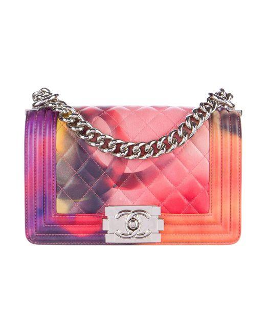 Chanel | Metallic Summer 2015 Small Flower Power Boy Bag Pink | Lyst