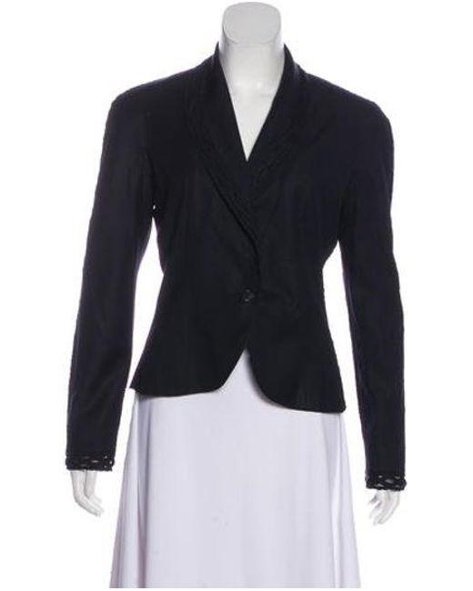 4f889374350 Dior - Blue Silk Shawl Collar Jacket Navy - Lyst ...