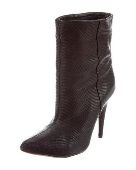 57410d920a75 ... Loeffler Randall - Black Leather Pointed-toe Ankle Boots - Lyst ...
