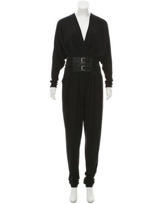 6644d56bfd39 Michael Kors - Black Long Sleeve Jumpsuit - Lyst ...
